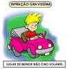 CUIDADO – Menor ao volante